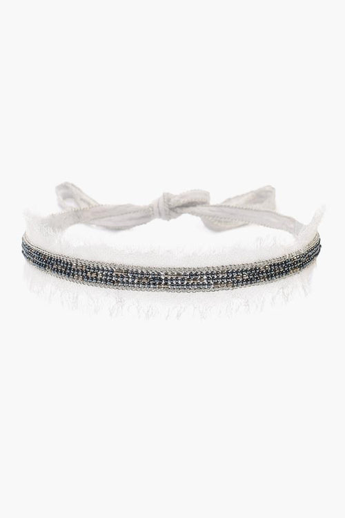 Harbor Mist Raw Edge Beaded Choker