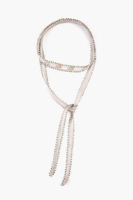 Harbor Mist Silver Star Beaded Necktie