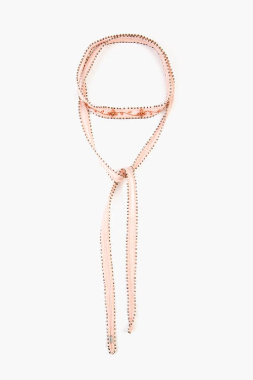 Rose Smoke Rose Gold Lurex Embroidered Necktie