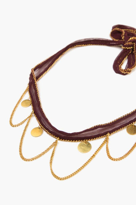 Fig Gold Chains and Coins Choker