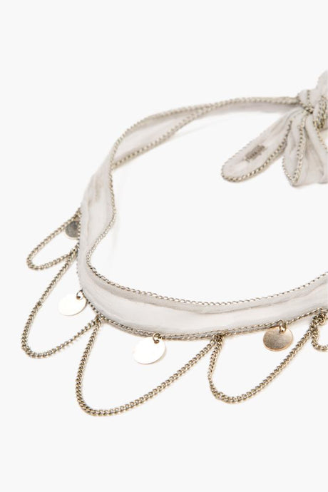 Harbor Mist Silver Chains and Coins Choker