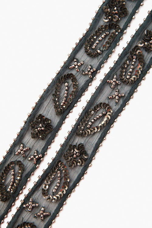 Urban Chic Beaded Short Skinny Scarf