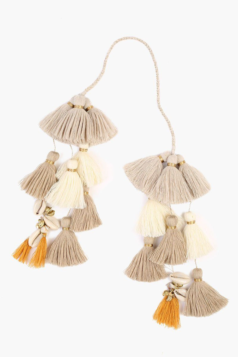 Doeskin Mix Basket Tassel Charm