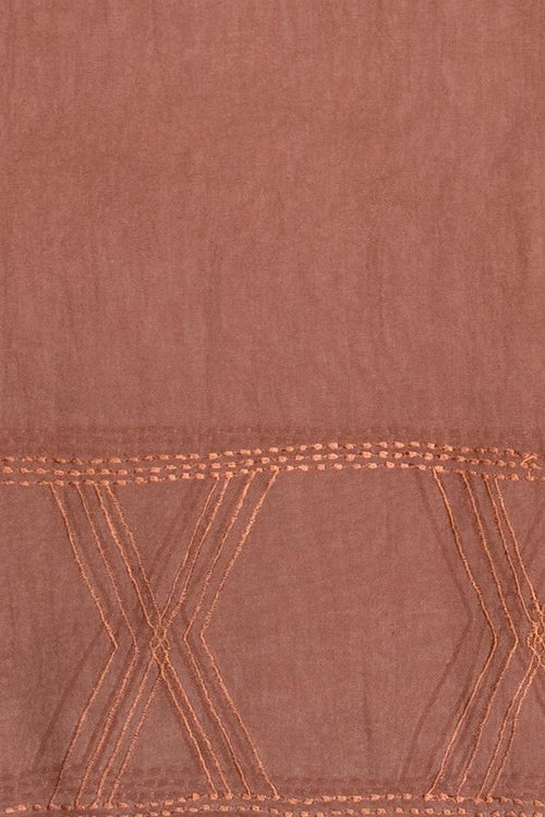 Cinnamon Mix Embroidered Scarf