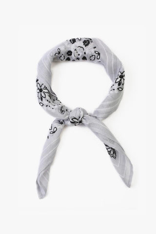 Black and White Print Bandana