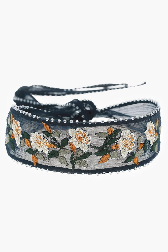 Total Eclipse Mix Vintage Floral Embroidered Choker