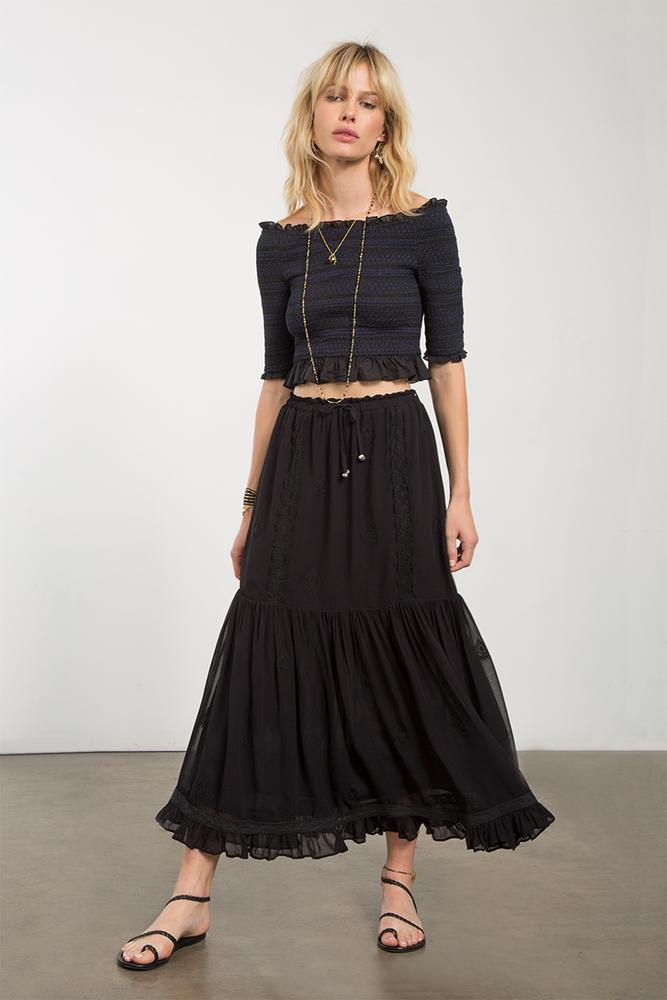 Black Bethany Skirt