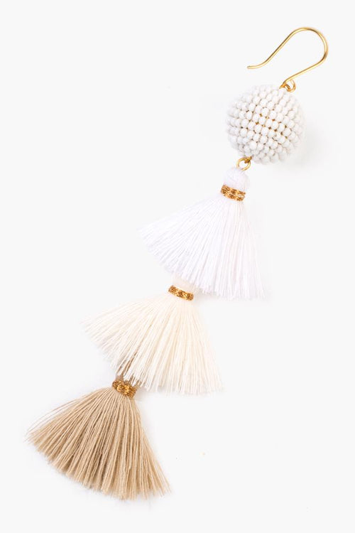 Doeskin Tier Tassel Earrings
