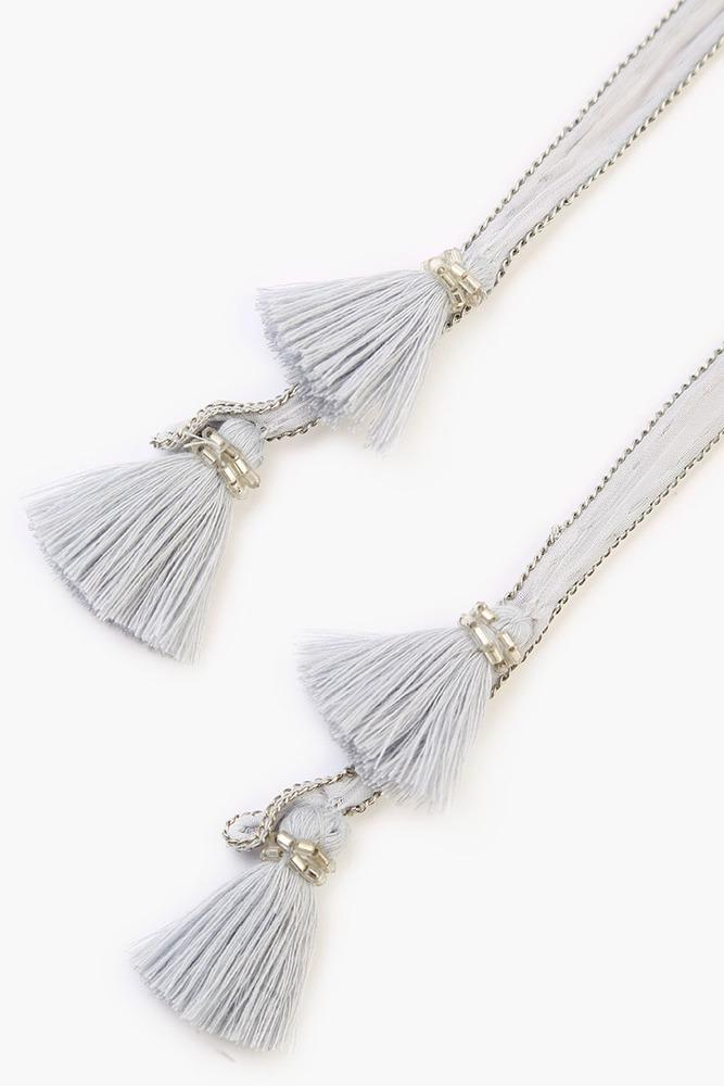 Grey Dawn Tassel Necktie