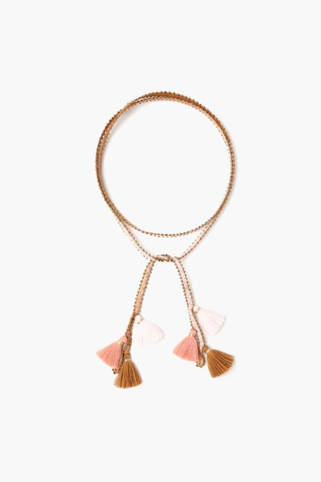 Brown Sugar Antique Gold Dip-Dyed Tassel Necktie