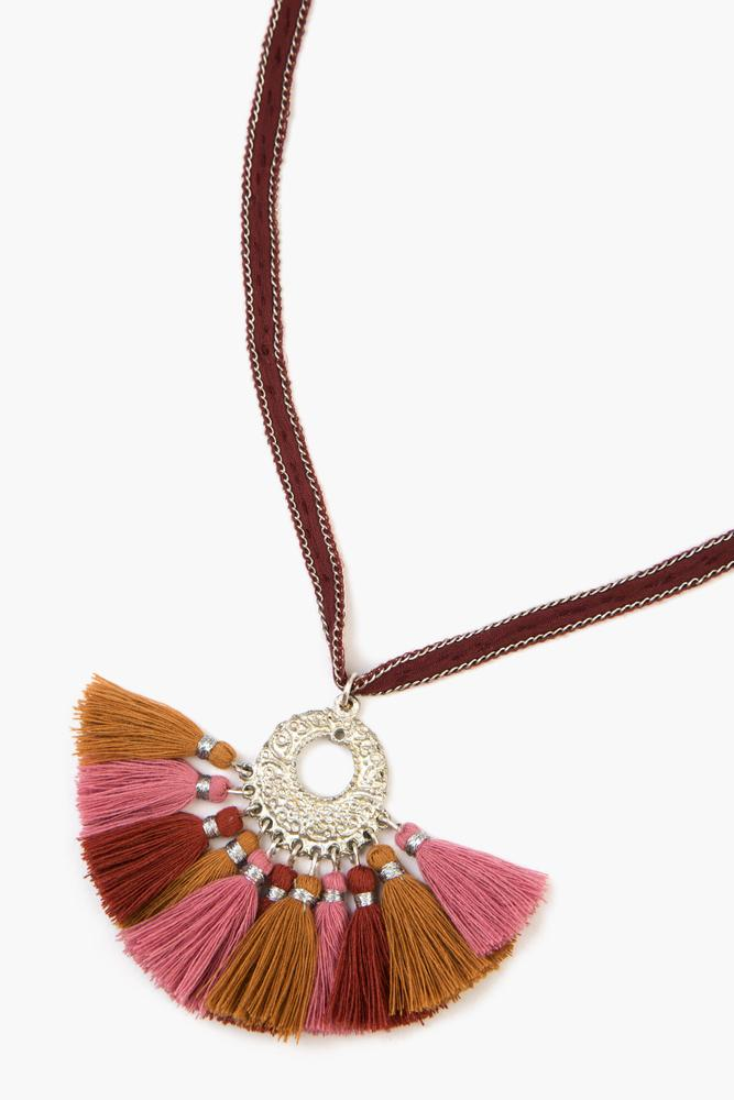 Andorra Pendant Necklace With Tassels