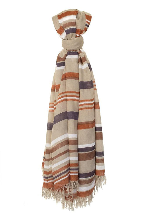 Dove Multi Stripe Scarf