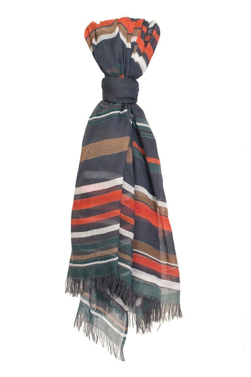 Ebony Multi Stripe Scarf
