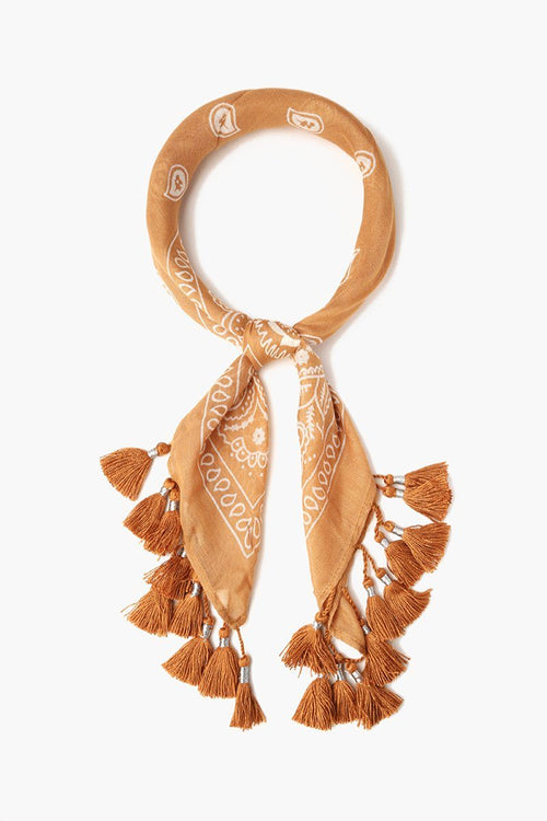 Brown Sugar Tassel Bandana