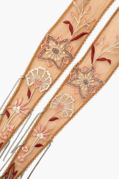 Brown Sugar Summer Nights Embroidered Short Skinny Scarf