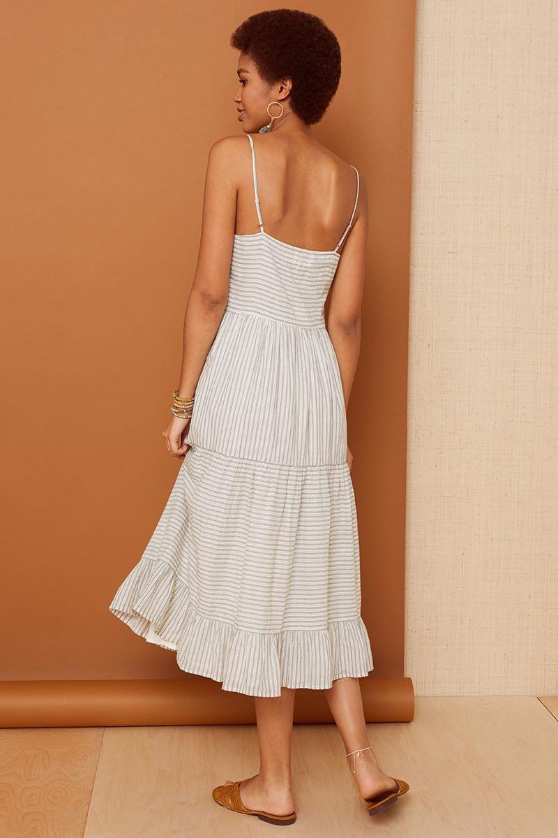 Natural Stripe Layla Dress