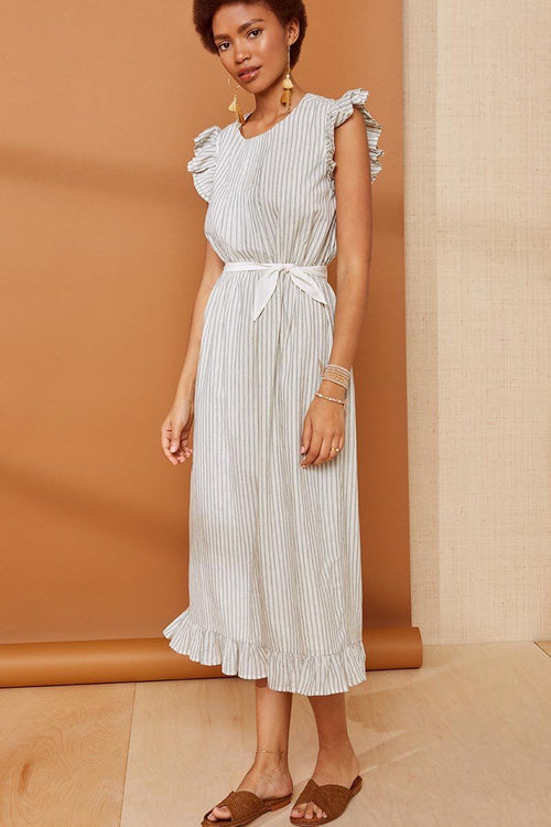 Natural Stripe Tristan Dress