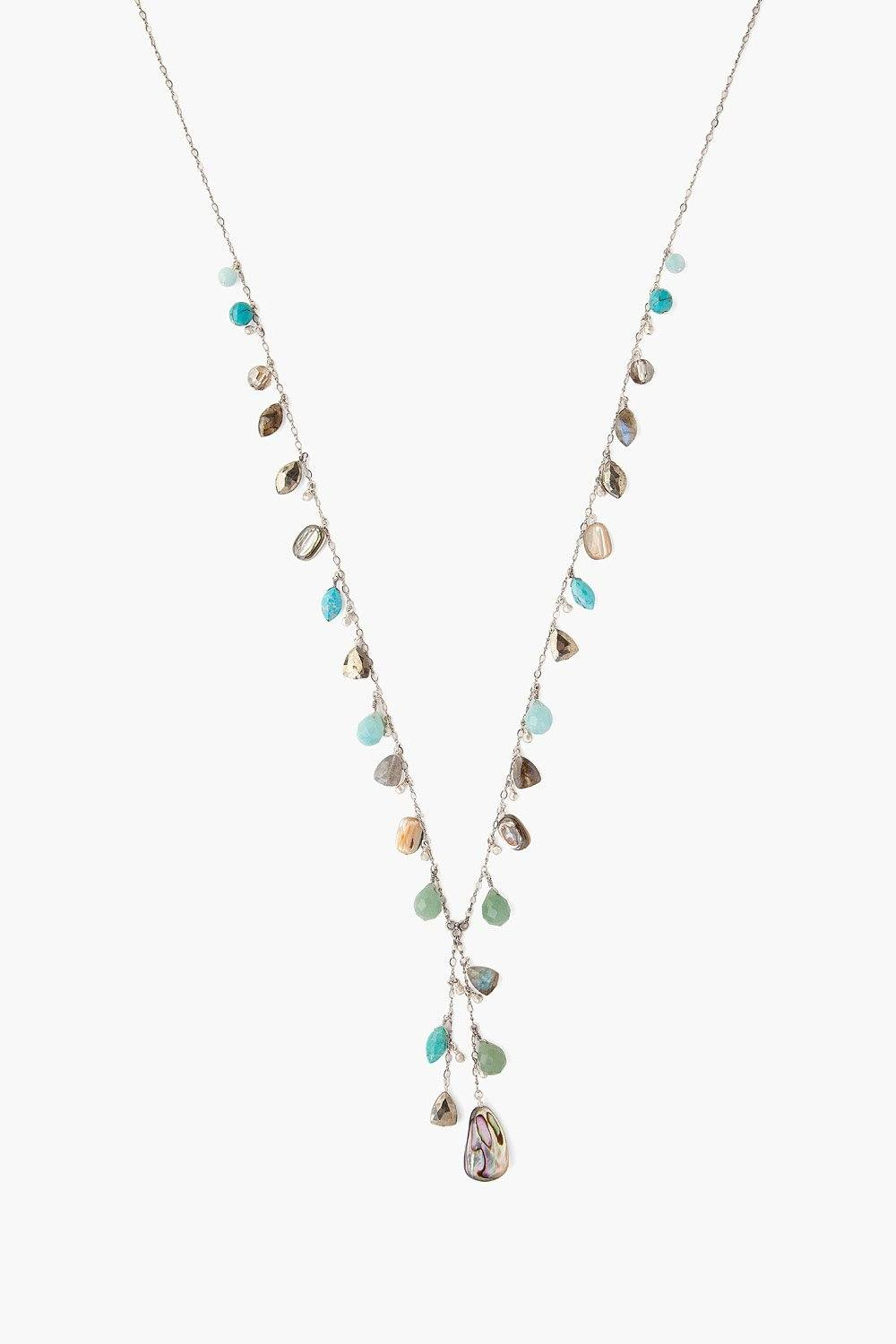 Turquoise Mix Marquise Necklace