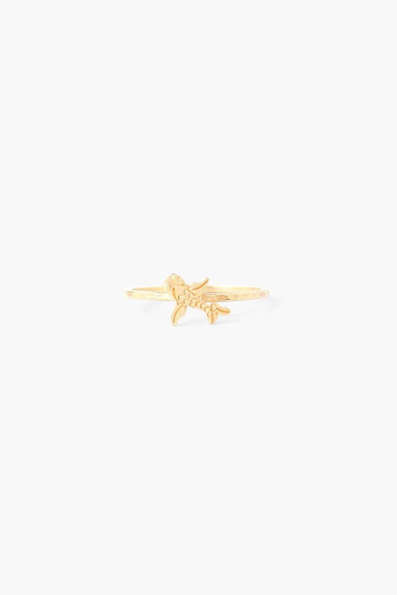 Gold Coy Fish Stacker Ring
