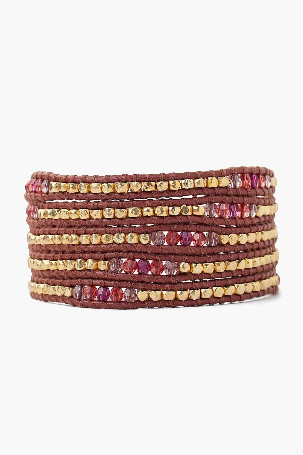 Fuschia Mix Wrap Bracelet