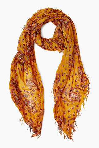 Chai Tea Paisley Cashmere and Silk Scarf