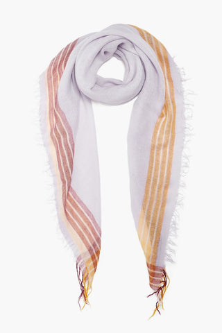 Orchid Hush Stripe Petite Cashmere and Silk Scarf