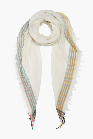 Valiant Poppy Stripe Petite Cashmere and Silk Scarf