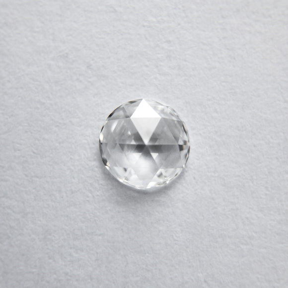5mm White Round Rosecut VS+ G+ 1/3ct