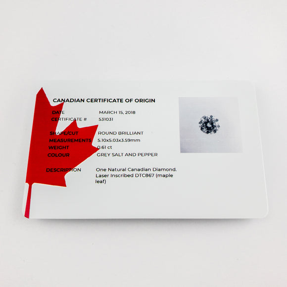 Certifcate of origin and laser inscription