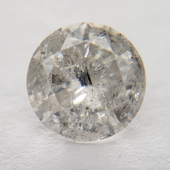 0.60ct 5.23x5.24x3.35mm Icy Grey Round Brilliant IC1006