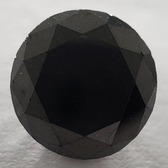 2.79ct 8.39x8.59x5.50mm Black Round Brilliant B-028-2