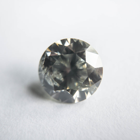 1.61ct 7.38x7.37x4.68mm Fancy Grey Round Brilliant DDL4503