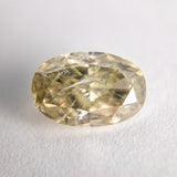 2.13ct 9.95x6.66x3.96mm I1 Light Brownish Yellow Oval Brilliant