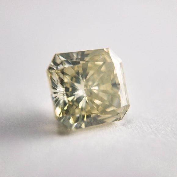 2.10ct 7.25x6.69x4.76mm SI1 Greyish Yellow Radiant Cut F-071