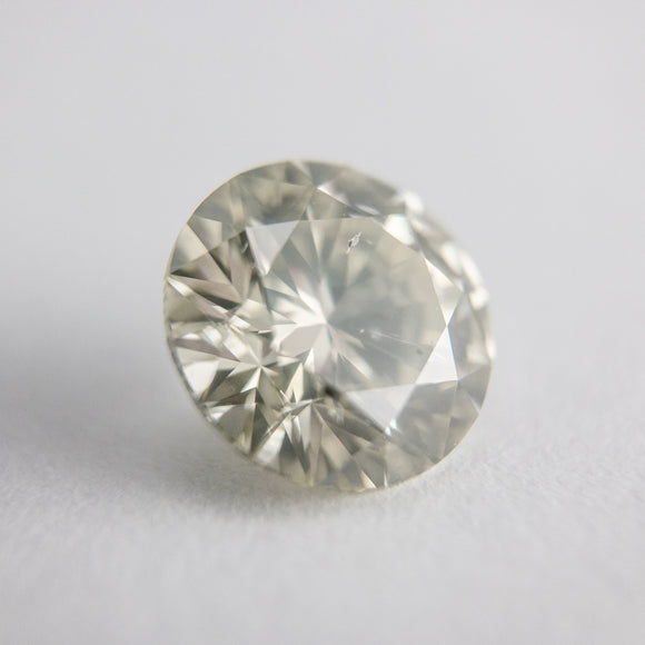 2.15ct 8.19x8.15x5.09mm Light Greyish Greenish Yellow Round Brilliant F-124