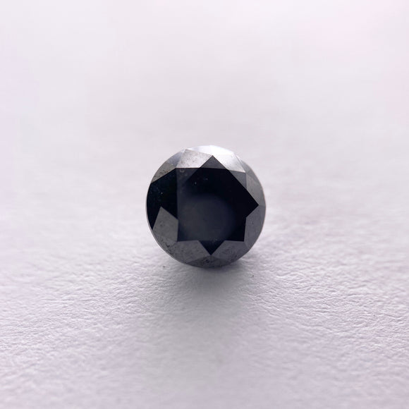 1.06ct 6.17x6.20x3.86mm Black Round Brilliant B025-1