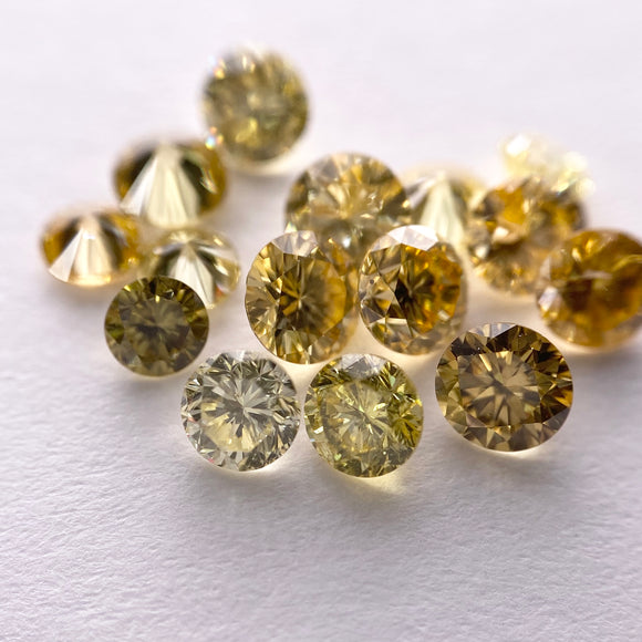 2.38cttw 15pc Yellow Round Brilliant Cut Parcel F-029