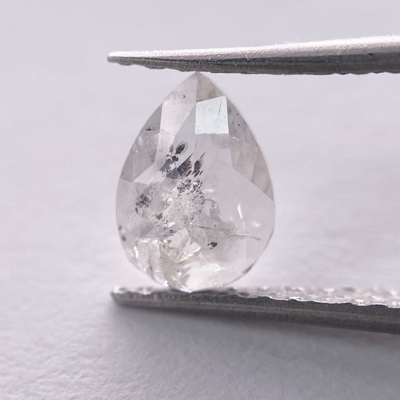 0.90ct 8.05x5.70x2.30mm Pear Rosecut IC1047