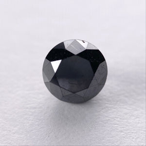 1.06ct 5.89x5.87x4.37mm Black Round Brilliant B025-3