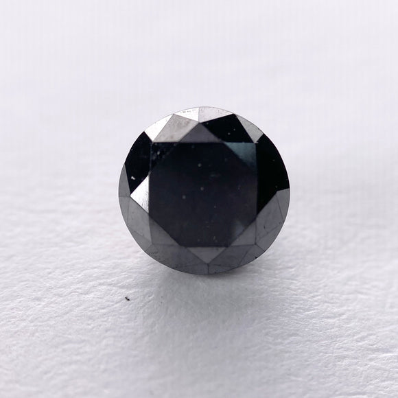 1.32ct 6.70x6.51x4.36mm Black Round Brilliant B025-2
