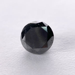 1.23ct 6.60x6.50x4.20mm Black Round Brilliant B025-5