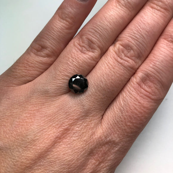 2.71ct 8.85x8.80x8.20mm Black Round Brilliant B-028-5