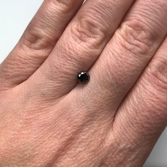 0.51ct 4.71x4.75x3.25mm Black Round Brilliant B027-5