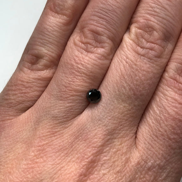 0.56ct 4.87x4.93x3.27mm Black Round Brilliant B027-3