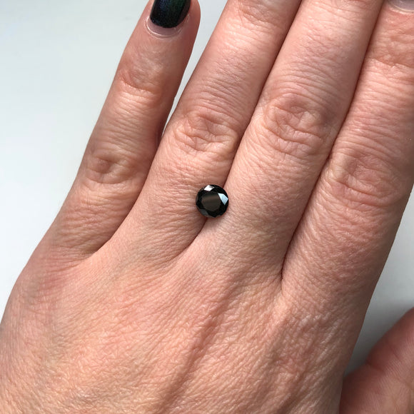 1.14ct 6.80x6.72x3.82mm Black Round Brilliant B-026-5