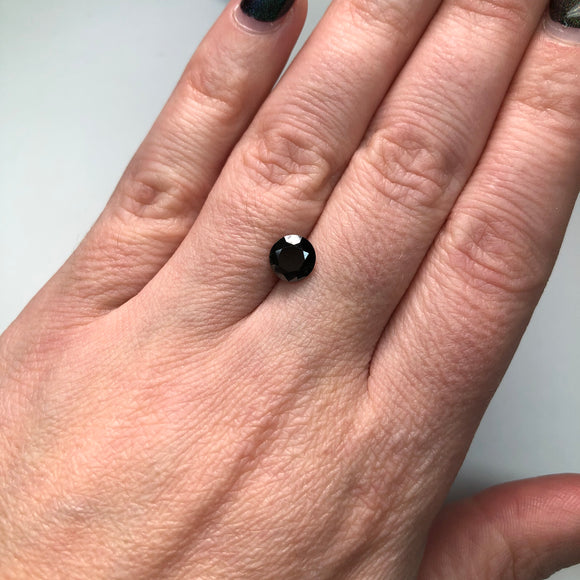 1.44ct 6.83x6.69x4.88mm Black Round Brilliant B-026-4