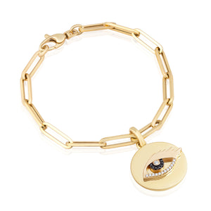 Diamond Eagle Eye Good Vibes Bracelet
