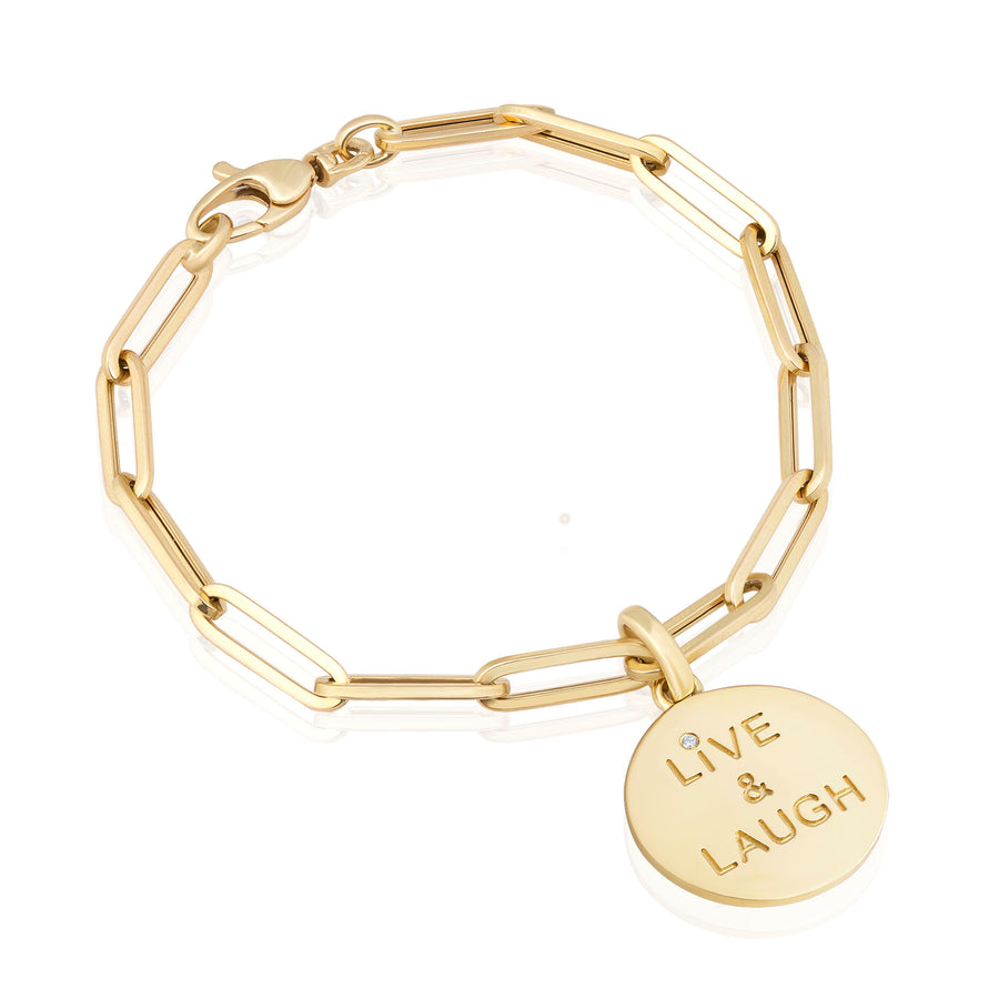 Diamond Smile Live & Laugh Bracelet