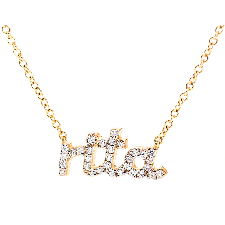 Diamond Name Necklace - 4 Letters