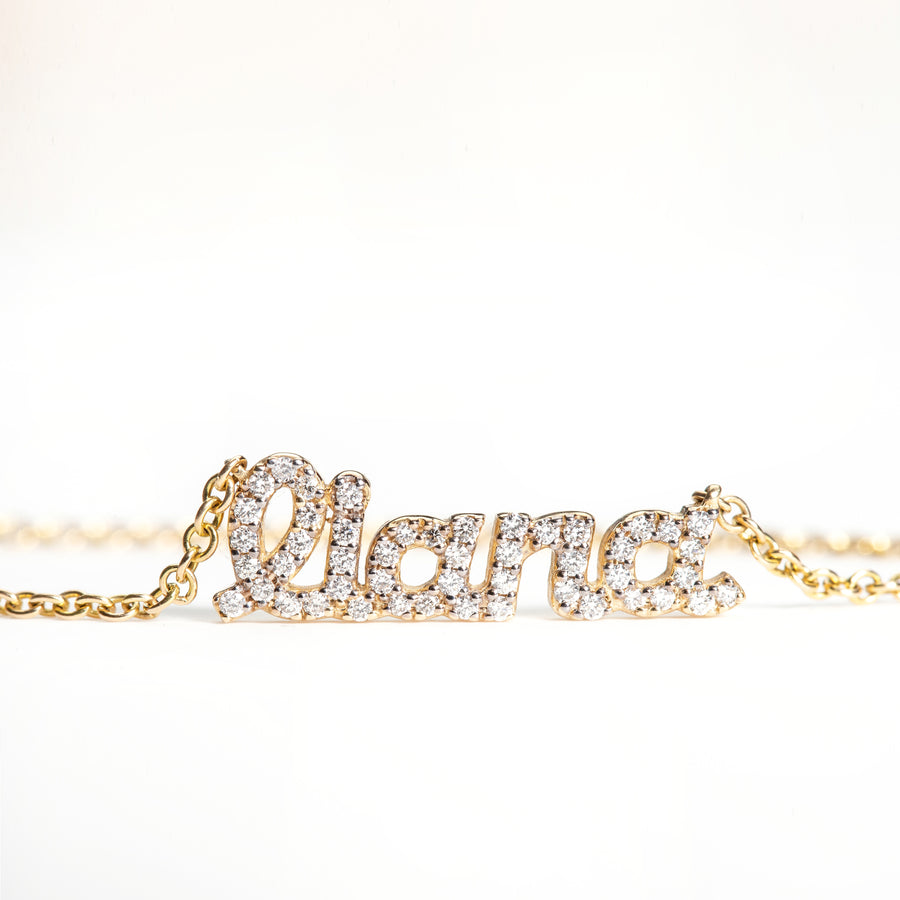 Diamond Name Necklace - 5 Letters